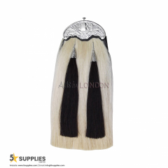 Traditional Scottish Kilt Sporran Original Horse Hair, 2 Tassels