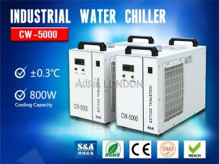 S&a air-cooled water chiller cw-5000 for cooling co2 laser