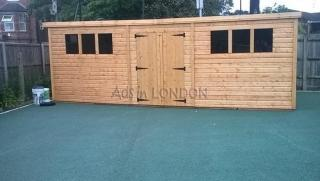 20 x 10 19mm pent shed £1995