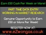 Part time data entry in market research. Available Now.
