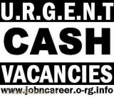 STAFF Required For Cash In Hand Positions London