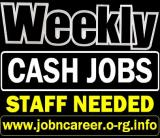 Urgent Staff Needed (Weekly Cash Jobs)