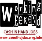 (Weekend Staff Wanted) Cash In Hand Job