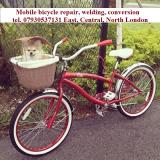 Mobile bicycle repair, bicycle welding, conversion  East London