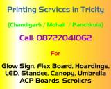 Flex Board, Glow Sign Board, LED Boards, Printers in Chandigarh