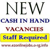 Urgently Pt & Ft Cash Jobs, Staff Wanted