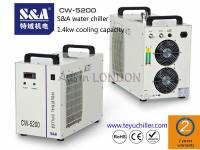 S&A CW-5200 water chiller to cool turbomolecular pump