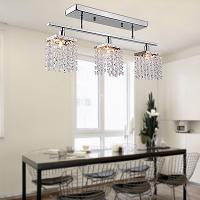Ceiling Light with 3 Lights in Crystal - Linear Design