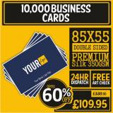 10000 Double Side Business Cards Only £109 95 | Business Card Sizes *85x55m