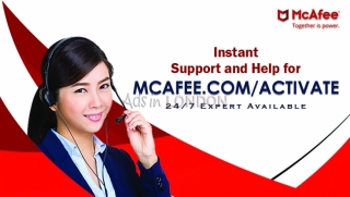 How to  get activated and install mcafee antivirus ?