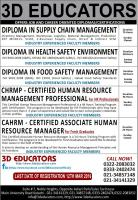 3D Educators Offers Jobs and Career Oriented Diplomas/Certifications