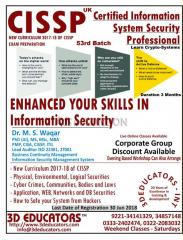Cissp course offerd by 3d educators