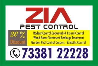 Zia Pest Control Flat 30% Discount on Cockroach and Bed Bug Service