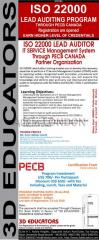 Iso 20000 lead auditor course offerd by 3d educators