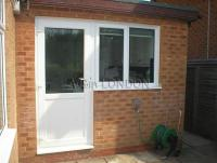 WHITE UPVC BACK DOORS