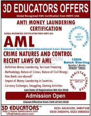 ANti-Money laundering traning offerd by 3D educators