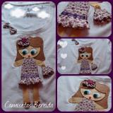 Fashion. T handmade felt applique and patchwork fabrics. #1