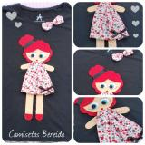 T handmade felt applique #1